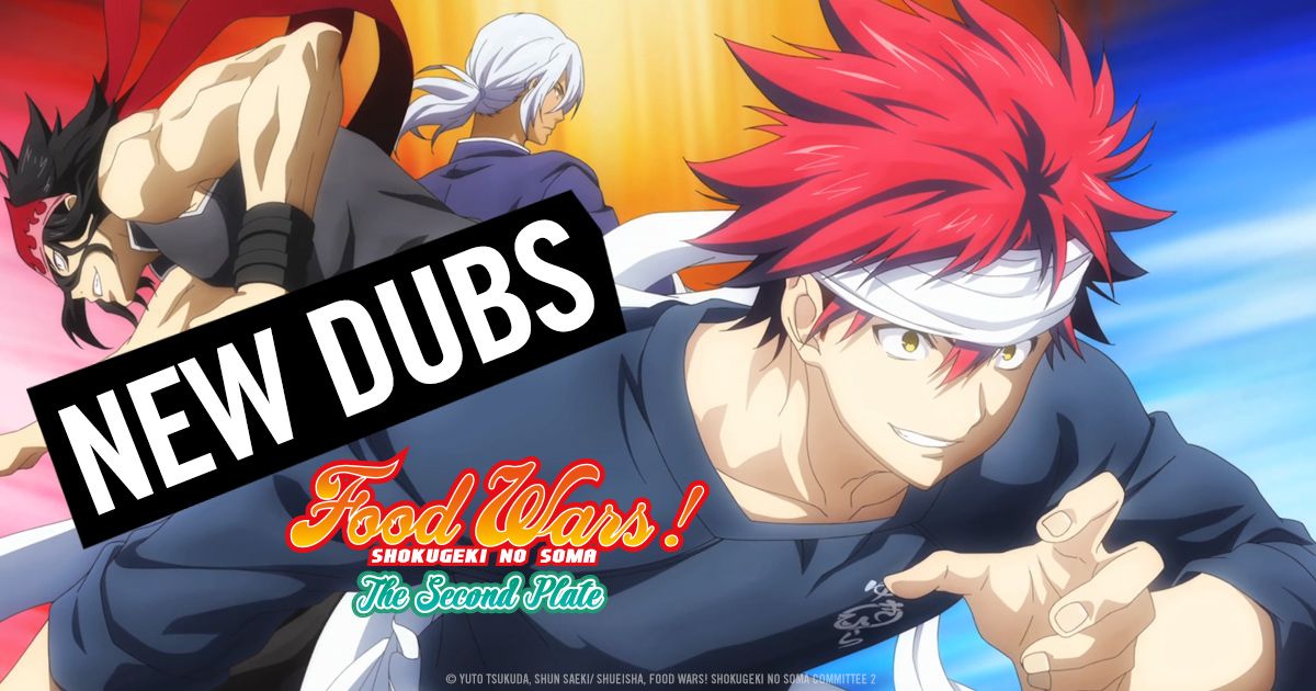 HIDIVE Serves It Up with Food Wars! The Second Plate English